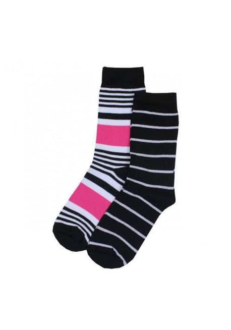 Zent stribet pink/hvid/sort