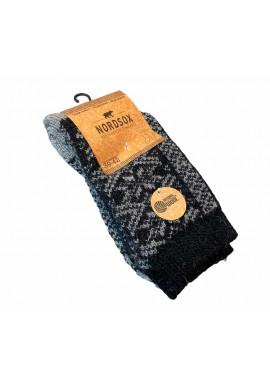 Nordsox Heavy Wool grå/sort